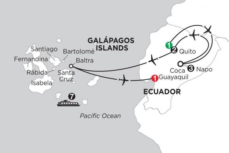 Guayaquil Isabela Island Cruising the Galápagos on board the Coral - 7 Night cruise with Ecuador's Amazon Trip