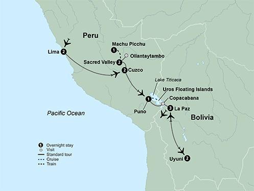 La Paz Lima Cultures of Peru & Bolivia featuring a 2-night stay on the Uyuni Salt Flats Trip