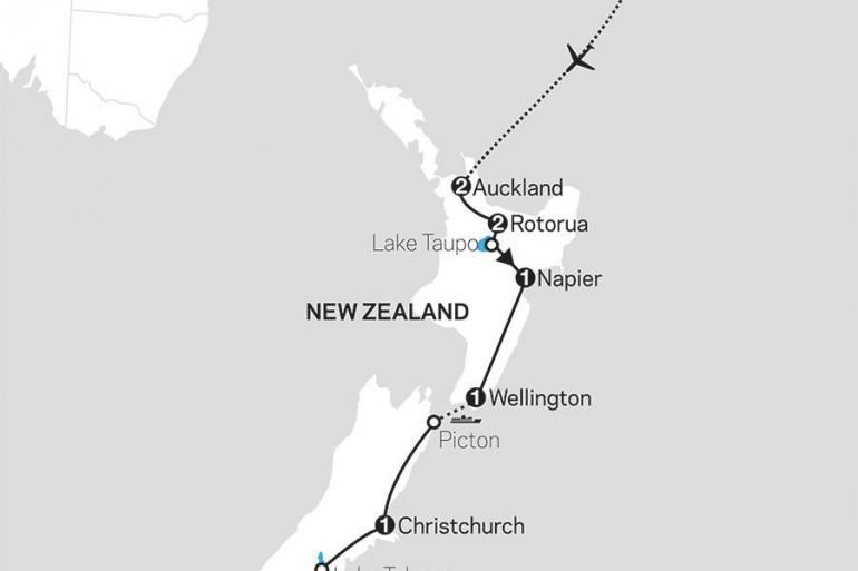 Auckland Christchurch Highlights of New Zealand with Fiji Trip