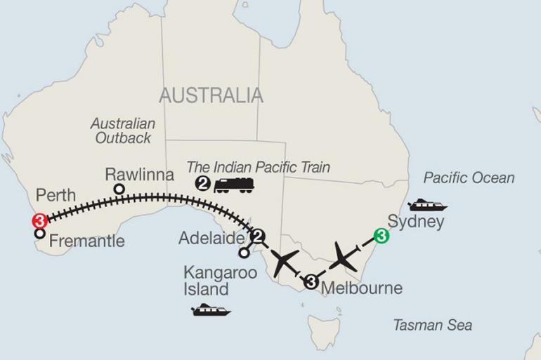 Adelaide Melbourne Across Australia by Train Trip