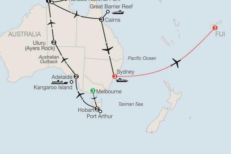 Adelaide Cairns Australia Adventure with Fiji Trip