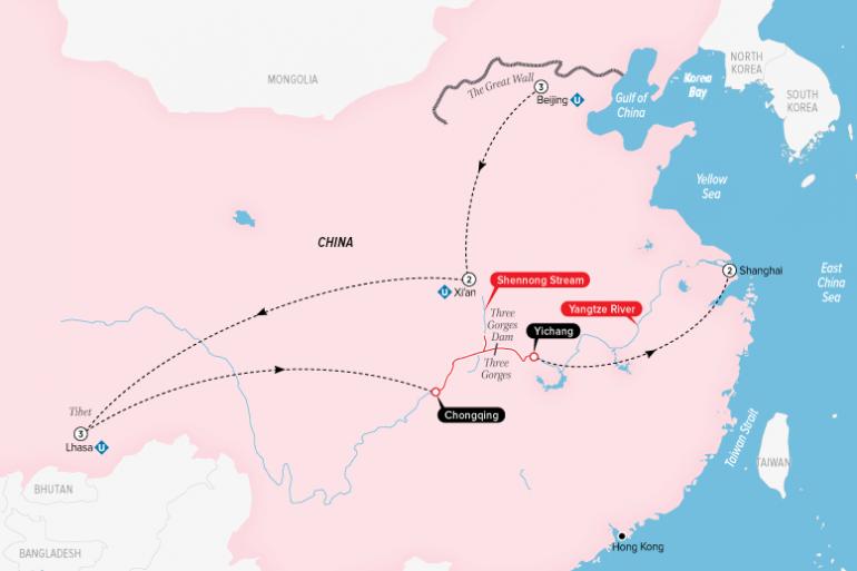 China, Tibet & the Yangtze tour