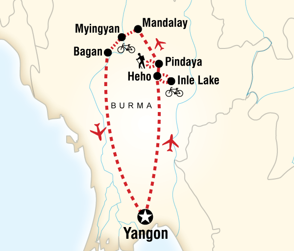 Bagan Mandalay Cycle Myanmar Trip