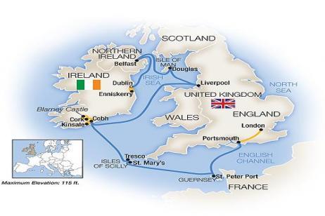 Treasures of the British / Irish Isles - Eastbound 2018 tour