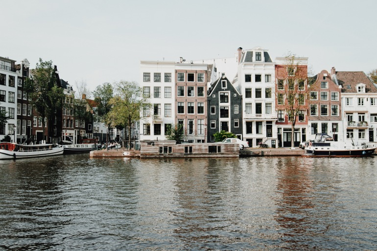 Lake near Building, Amsterdam
