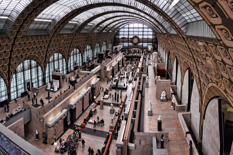 Orsay Museum view in Paris, Europe_P