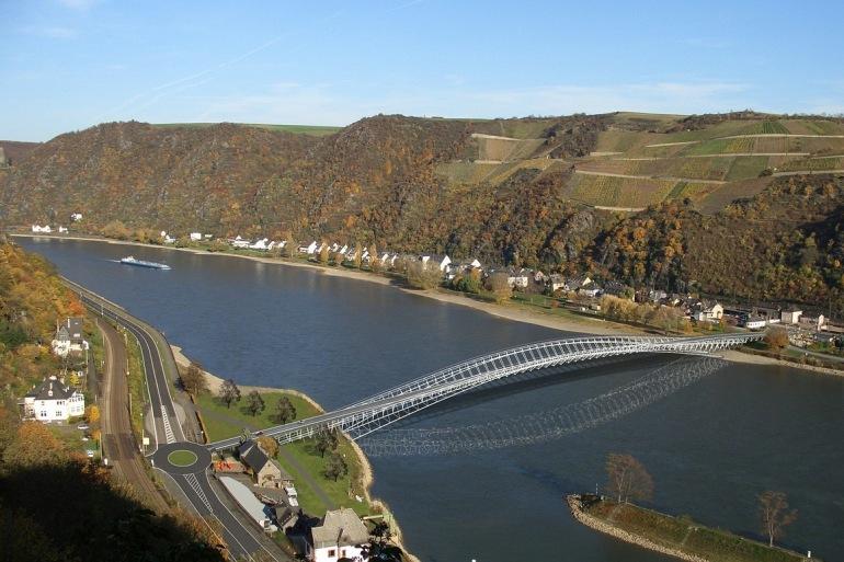 River Rhine bridge-Germany-67502-P