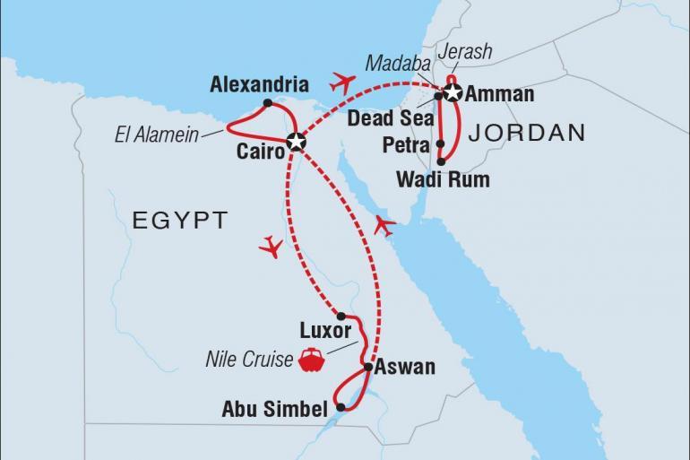 Cultural Adventure & Adrenaline Premium Egypt & Jordan in Depth package
