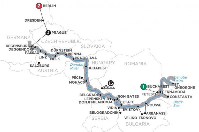 Belgrade Belogradchik From the Danube Delta to Prague with 2 Nights Berlin Trip