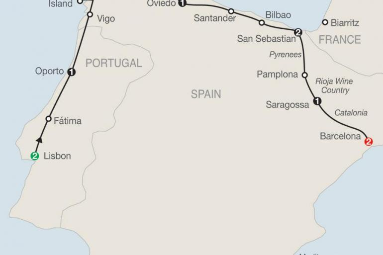 Barcelona Bilbao Lisbon & Northern Spain Trip
