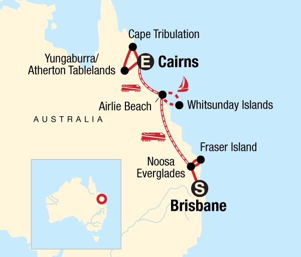 Brisbane Cairns Queensland Sand, Sailing & Dreamtime Trip