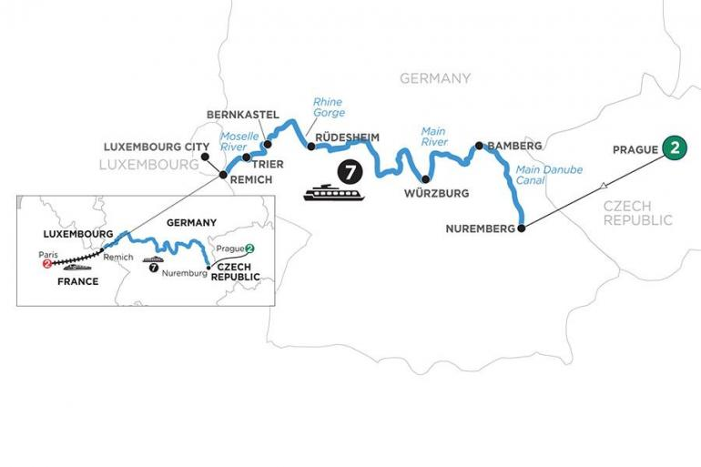 Bamberg Nuremberg Central European Experience with 2 Nights in Prague & 2 Nights in Paris (Westbound) Trip