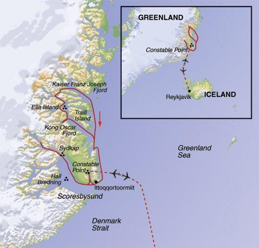 National Parks Wildlife viewing Greenland's Northern Lights - Fly & Cruise package