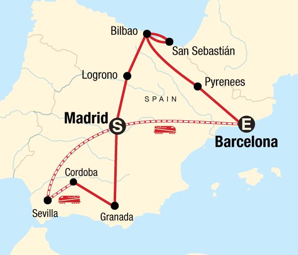 Barcelona Bilbao Classic Spain Trip