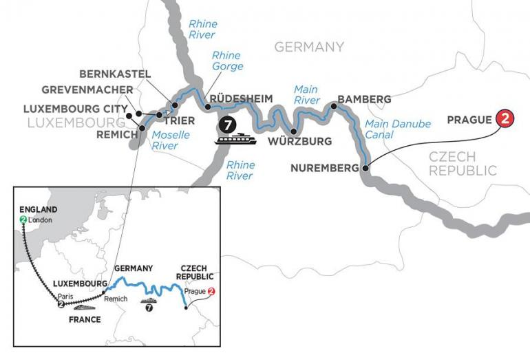 Bamberg London Central European Experience with 2 Nights London and 2 Nights Paris – Eastbound Trip