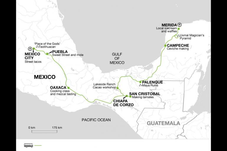 Cultural Cycling Tastes of Mexico package