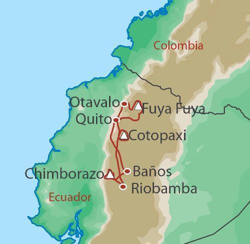 Adventure Rock Climbing Summits of Ecuador package