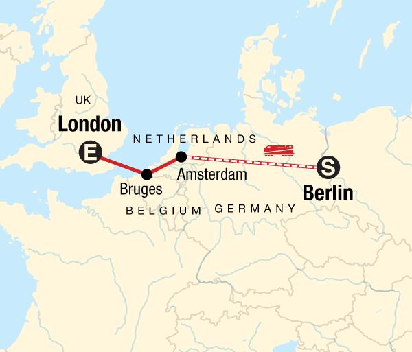 Amsterdam Berlin Berlin to London on a Shoestring Trip