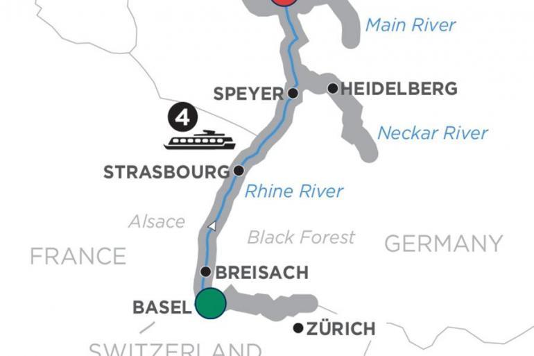 Basel Frankfurt Christmastime in Alsace & Germany – Northbound Trip