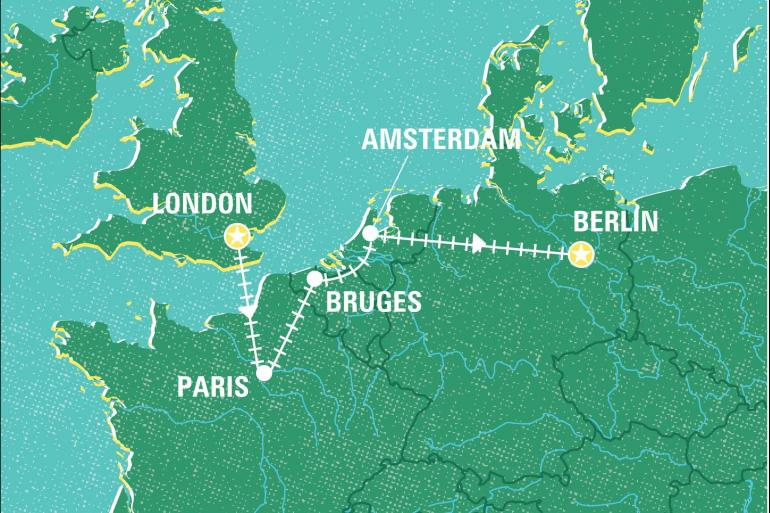 Bruges London London to Berlin by Rail Trip