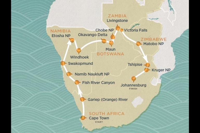 Cape Town Chobe National Park Desert Tracker 25 Day Trip
