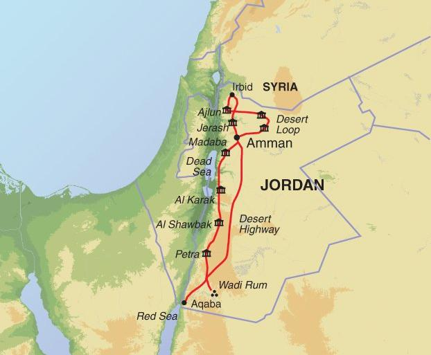 Cultural Culture Hidden Treasures of Jordan package
