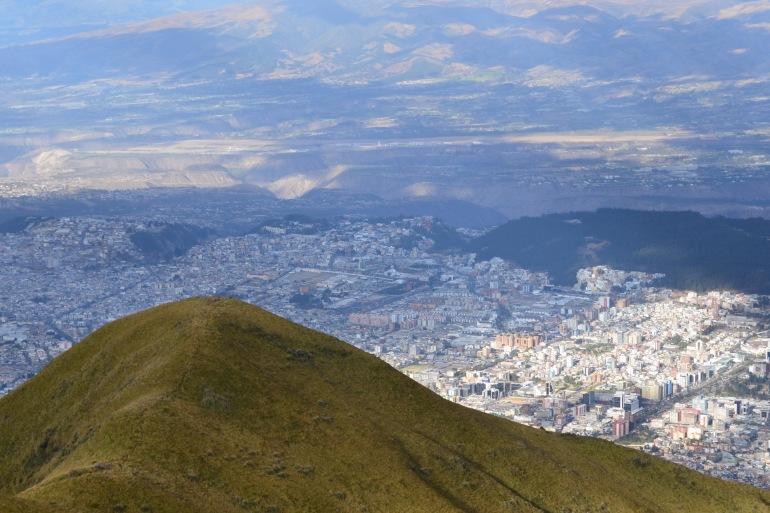 Landscape of Beautiful Quito, Ecuador