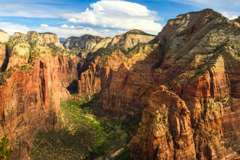 Mountain Valley View of Zion, United States