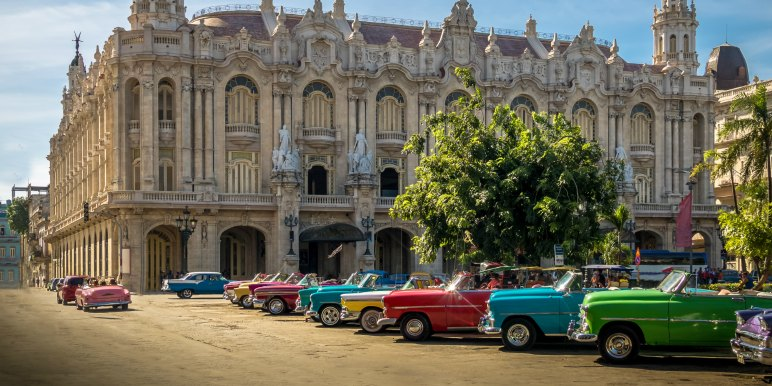 Classic vintage cars in Havana, Cuba