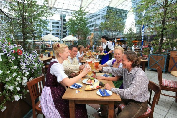 Munich Airport Beer Garden