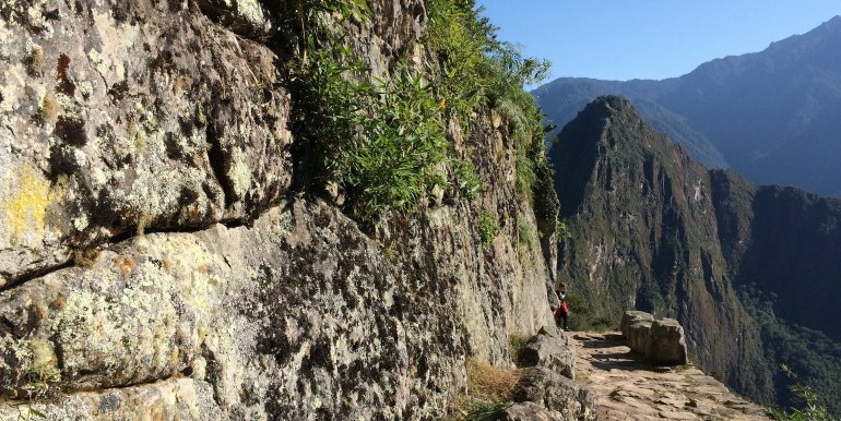 Solo hiker along the Inca Trail