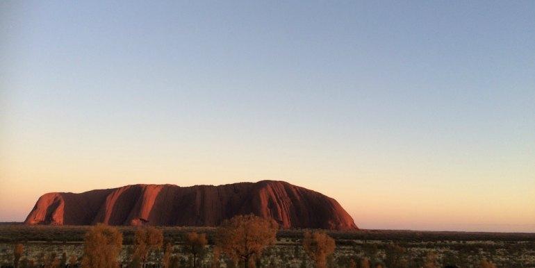 Uluru at dusk in Central Australia