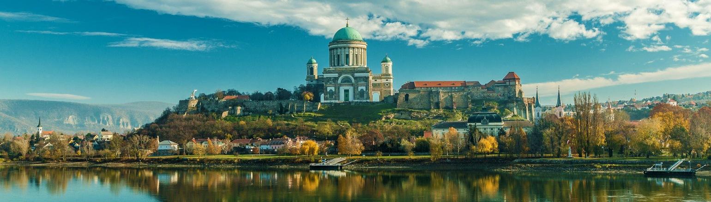 Esztergom Basilica along the Danube River in Hungary