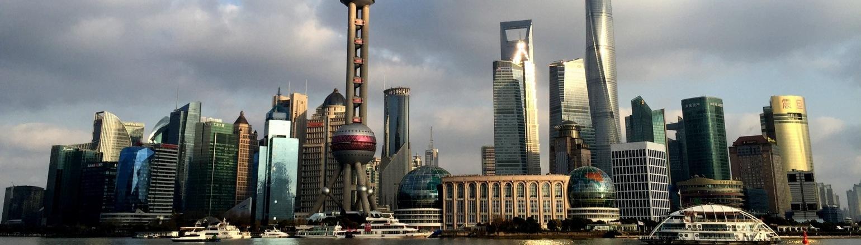 Dramatic Shanghai skyline