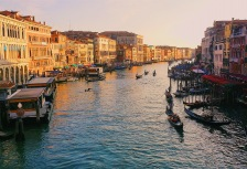 Gondola tour through Venice, Italy