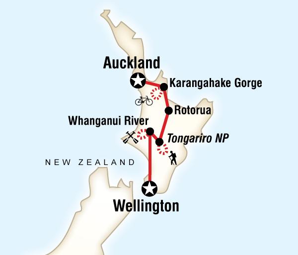 Auckland Rotorua New Zealand – North Island Multisport Trip