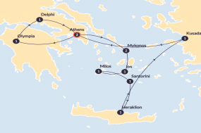 7 day Greek Island Cruise plus Spotlight on Greece (Standard inside cabin without porthole, start Athens, end Athens) tour