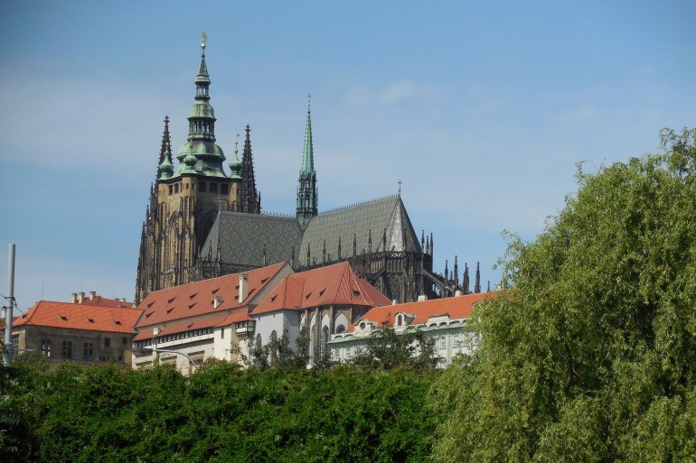 Hradcany Castle view at Czech Republic_P