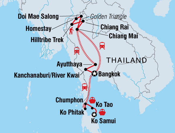 Chiang Mai Chiang Rai Thailand Adventure East Coast (May - Oct) Trip