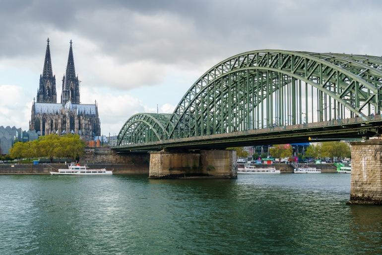 Hohenzollern Bridge at Cologne, Europe