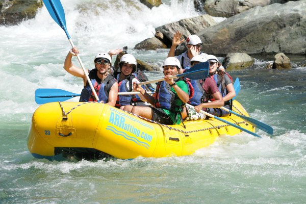 Stride team whitewater rafting