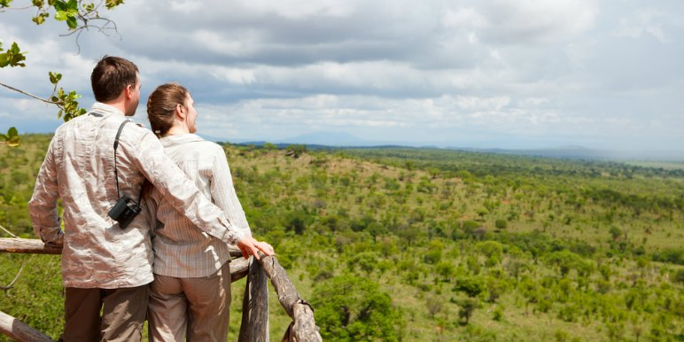 Couple on Safari in Africa