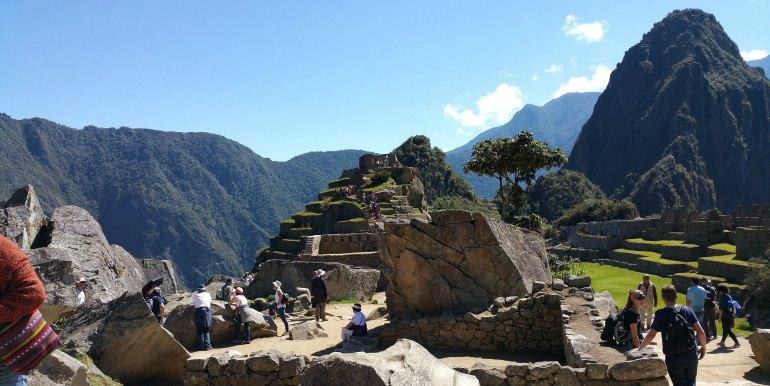 Group of tourists at Machu Picchu