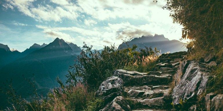 Inca path to Machu Picchu
