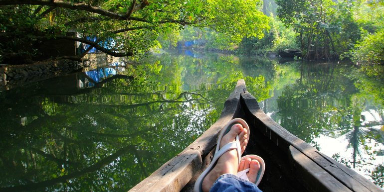 Relaxing river cruise in the Amazon