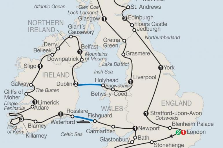 Bath Belfast Britain & Ireland in Depth Trip