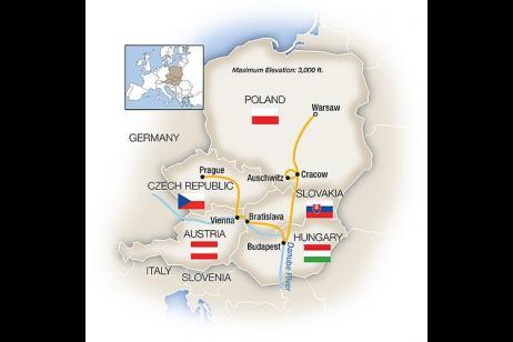 Warsaw, Budapest, Vienna & Prague tour
