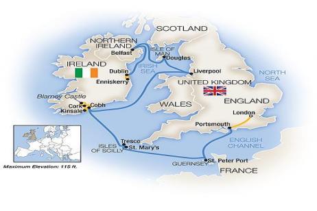 Treasures of the British / Irish Isles - Westbound 2018 tour