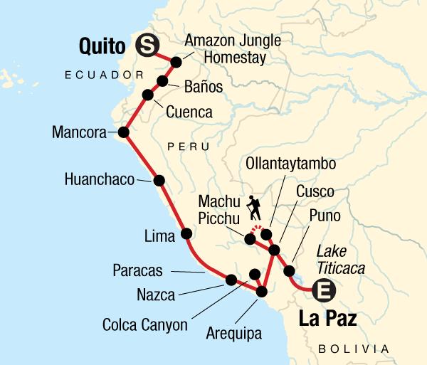 Arequipa Cuenca Quito to La Paz Adventure Trip