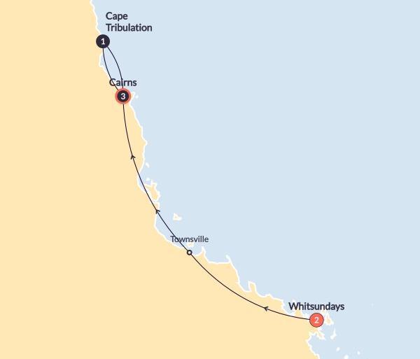 Cairns Daintree Island and Rainforest (Start Whitsundays)(Multi Share,Start Whitsundays, End Cairns) Trip